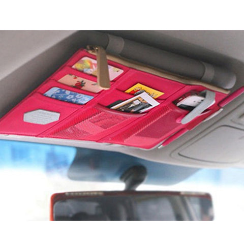 Sun Visor Multi-Pocket Pouch