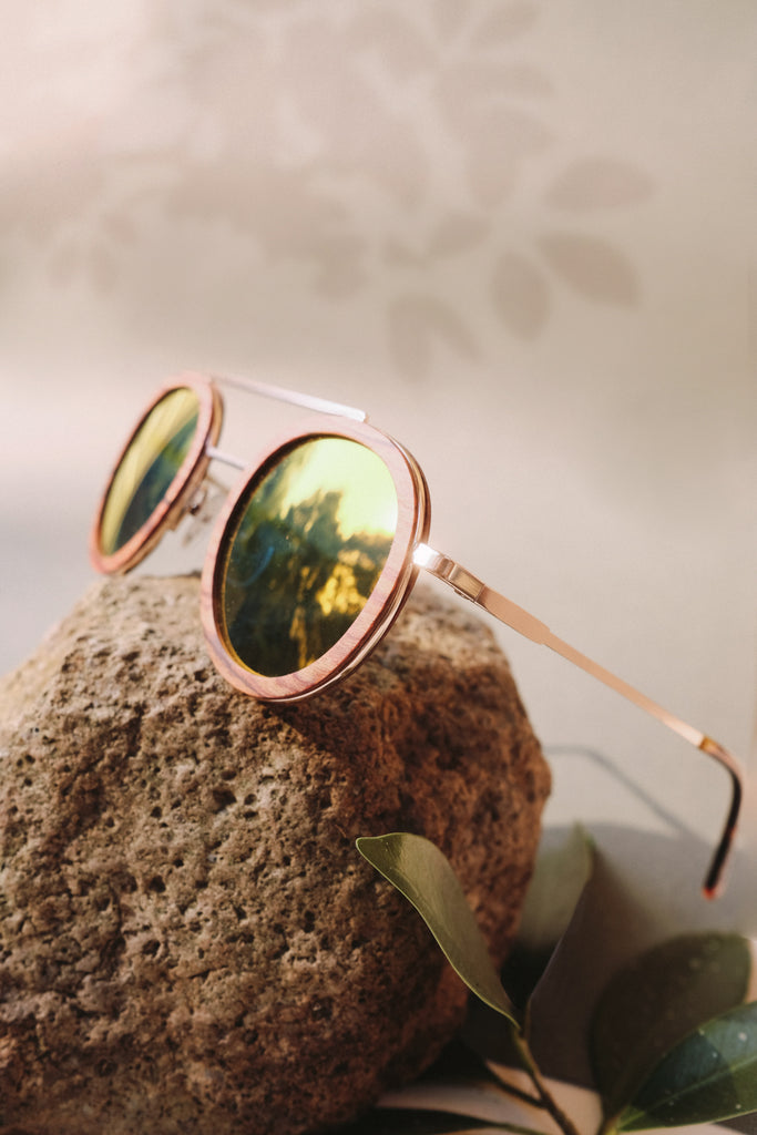 bambies emilia handmade wooden sunglasses side