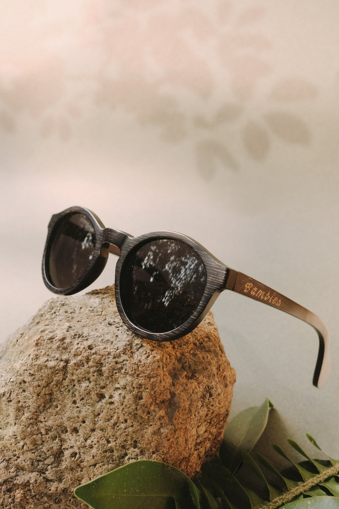 bambies mountain corkwood handmade wooden sunglasses