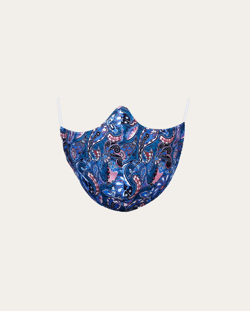 Blue Pointed Nose Cotton Face Mask