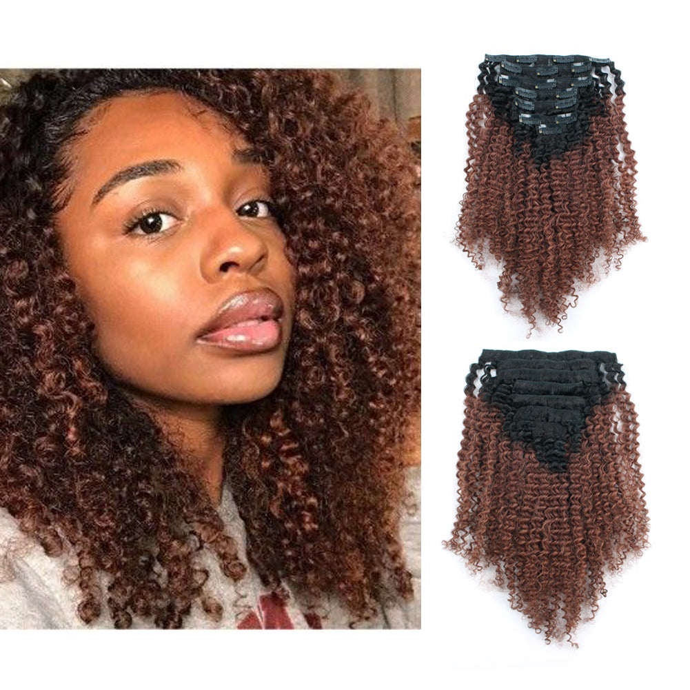 Loviro 3c 4a Clip Ins Afro Kinkys Curly Hair Extensions Tone Natural