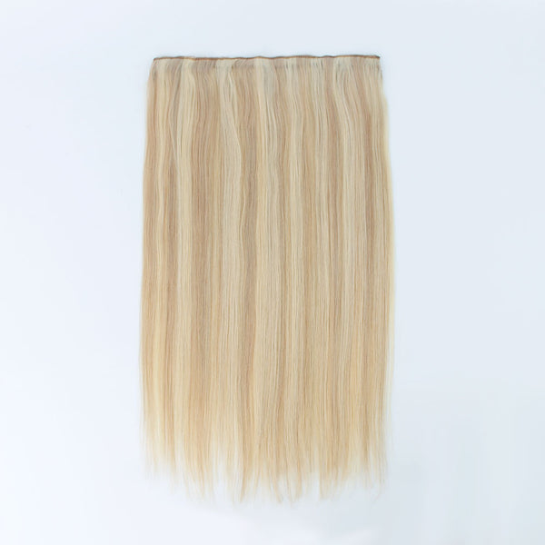 Halo Hair Ash Blonde #18 Highlight with #613 Bleach Blonde