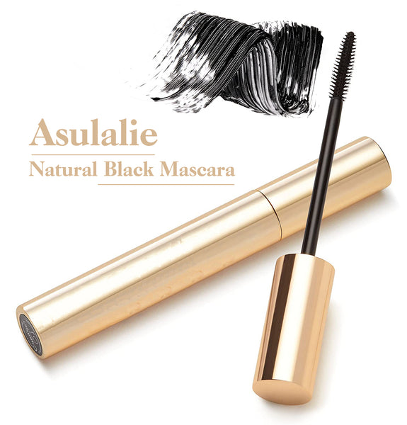 Asulalie Mascara of 4D Silk Fiber, Voluminous Eyelash Extra-long and Thick Effect, Waterproof Materials, 1 Pack Black Color