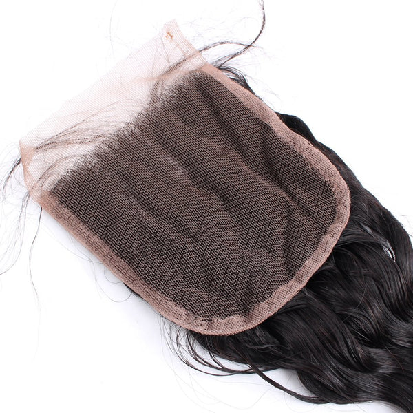 Loose Wave Hair Bundles With 4X4 Lace Closure
