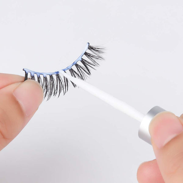 Asulalie False Eyelash Glue and Latex Free, Strong Hold and Waterproof Materials, Strip Eyelash Adhesive, Improved formula