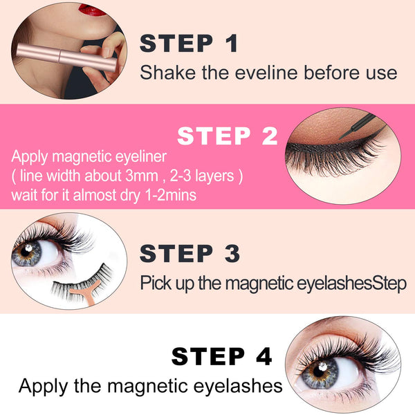 Asulalie Hand-Made Artificial Eyelashes of Synthetic Fiber, Smudge-Proof Materials, Full Strip Eyelashes