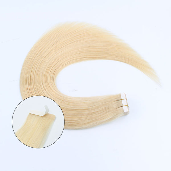 Lovrio  20pcs 50g Hair extension Tape in Human Hair Color #613 Bleach Blonde Seamless Skin Weft Invisible Double Sided Tape - lovirohair