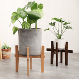 bestwinstore Plant stand Mid Century Modern Plant Holder, Plant stands for indoor plants(8 Inch, Natural Black)