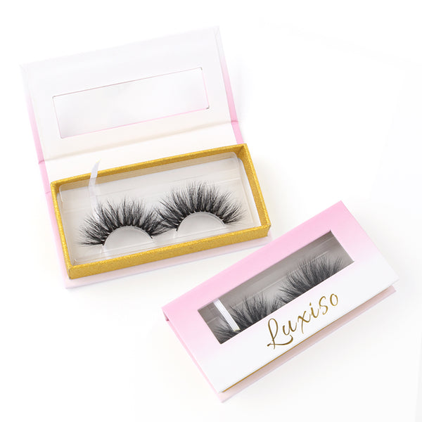 Luxiso 3D Mink Lashes, Fluffy Natural Non-Irritating Mink Eyelashes