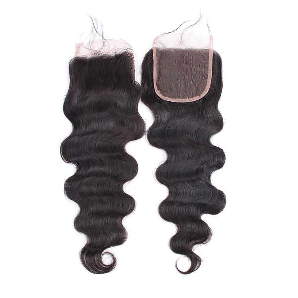 Body Wave Hair Bundles With 4X4 Lace Closure