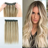 Fish Line Hair, Piano Color Dirty Blonde with Platinumb Blonde Highlights P8-60,