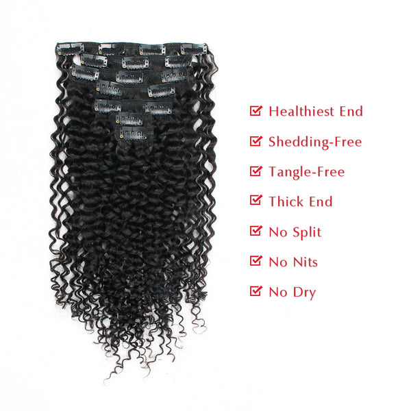 Loviro Jerry Curly Clip in Hair Extensions - lovirohair