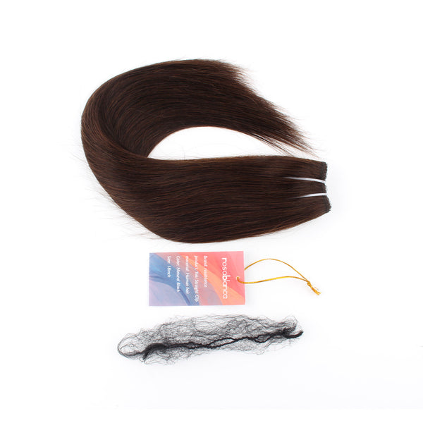RosaBlanca Clip in Hair Extensions #2 Color Remy Human Hair 7 pieces 18 clips