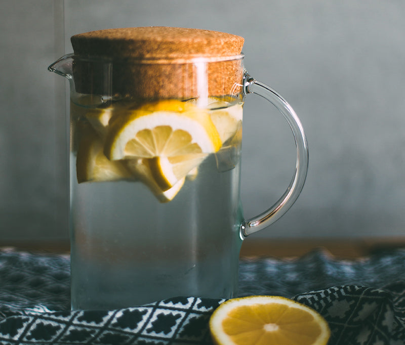Jar of water with lemon
