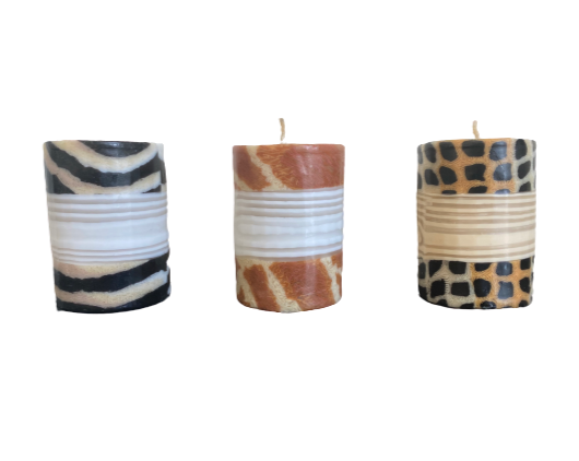 Pillar Candles </br> Pack of 3