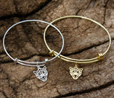 Chui Leopard Silver or Gold  Plated Bangle