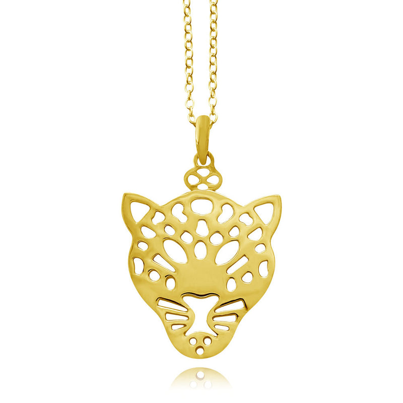 Chui Leopard Gold or Silver Plated Necklace