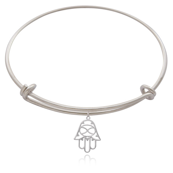 Hamsa Silver or Gold Plated Bangle