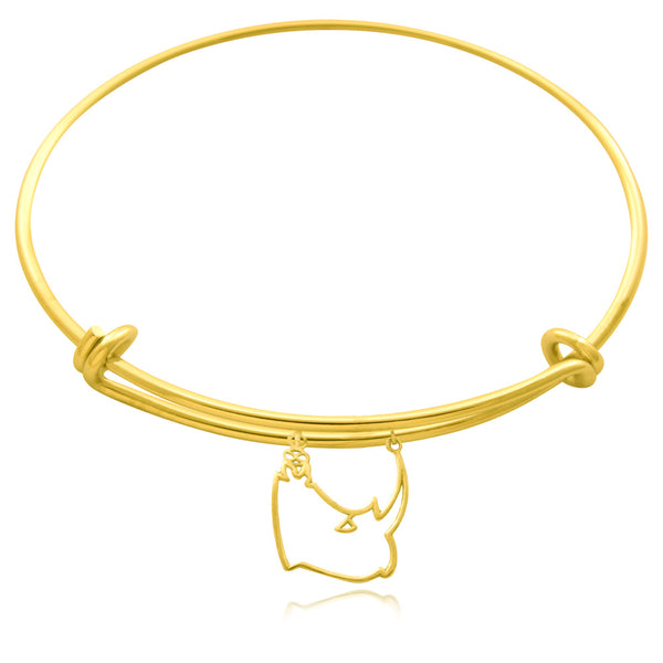 Kifaru Rhino Silver or Gold  Plated Bangle