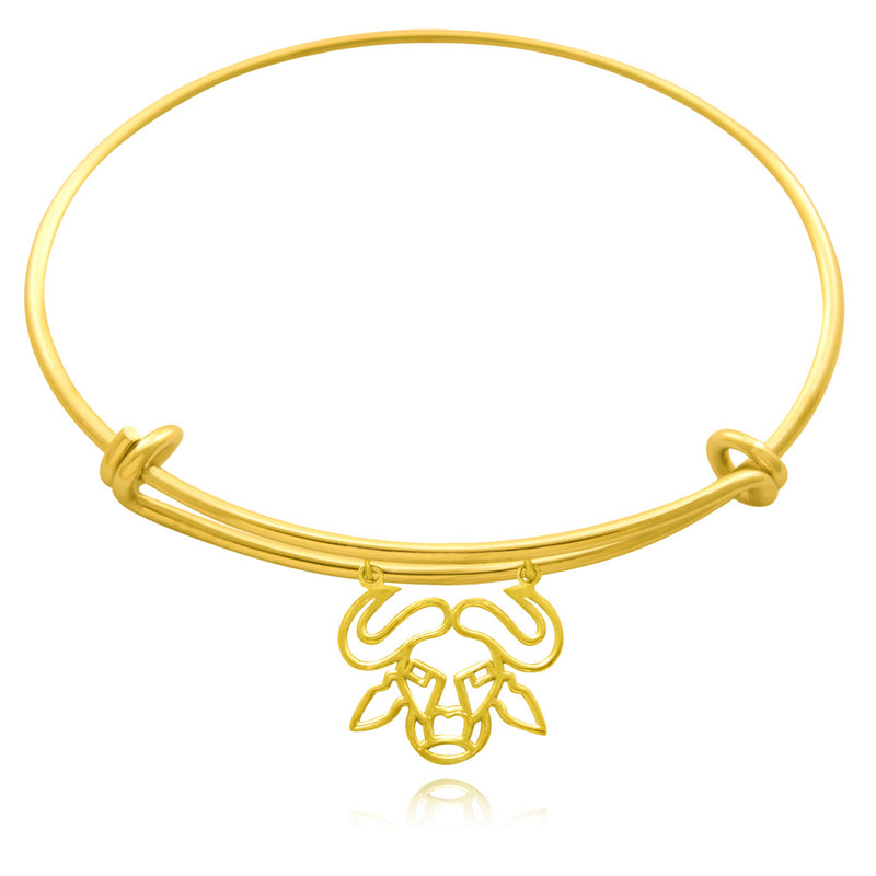 Nyati Buffalo Silver or Gold Plated Bangle