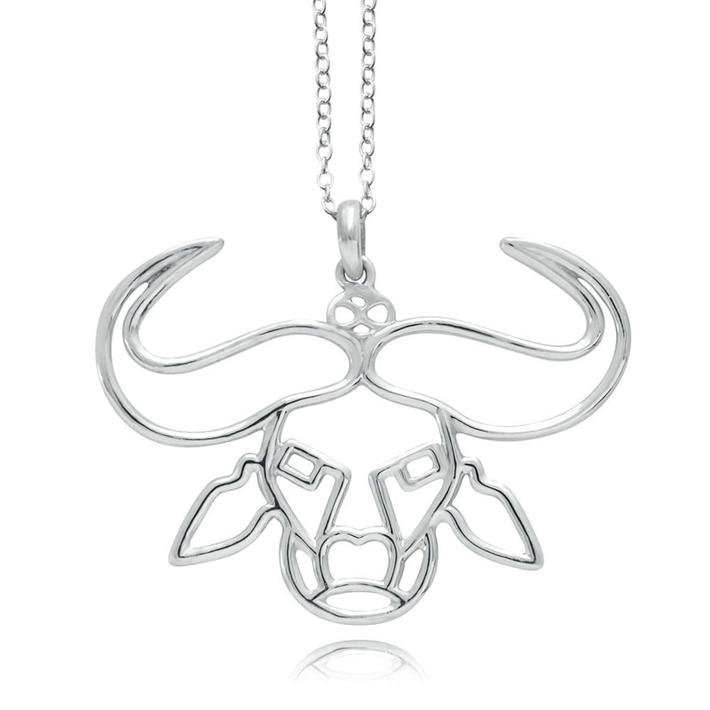 Nyati Buffalo Silver or Gold Plated Necklace
