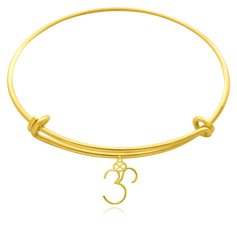 Om Gold or Silver Plated Bangle