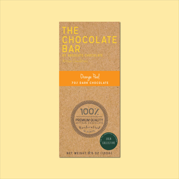 Vegan Chocolate Orange Peel 70% Dark Chocolate