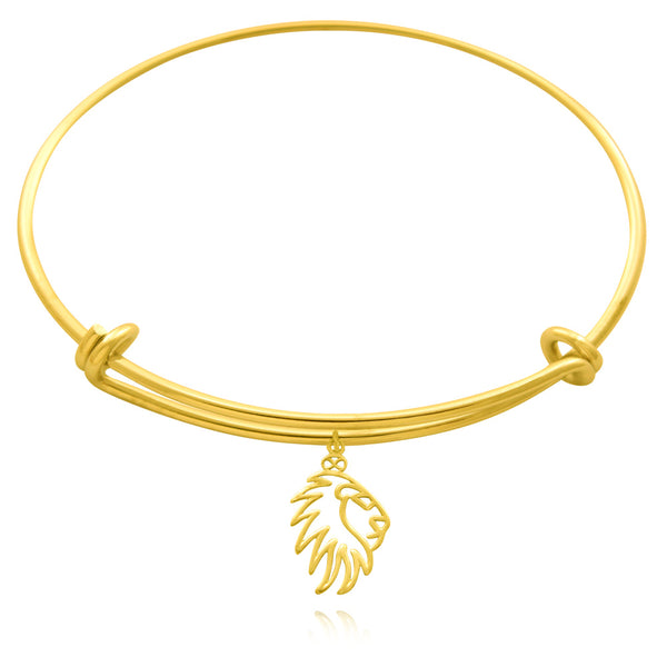 Simba Lion Silver or Gold Plated Bangle