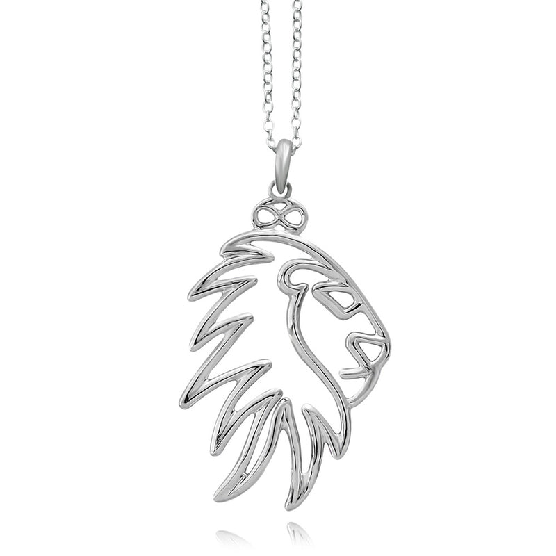 Simba Lion Silver or Gold Plated Necklace
