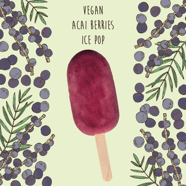 Vegan Acai Berries <br/> 1 Ice Pop