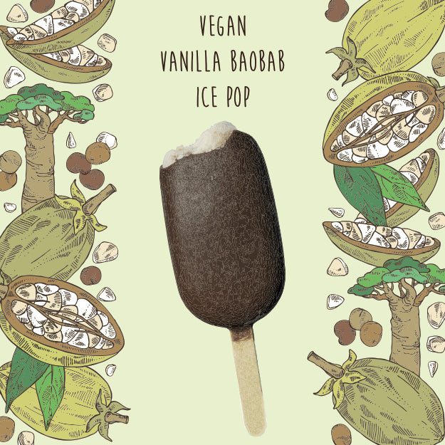 Vegan Vanilla Baobab Ice Cream