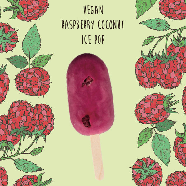 Vegan Raspberry Coconut <br/> 1 Ice Pop