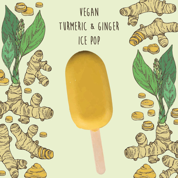 Vegan Turmeric & Ginger Ice Pop <br/> 1 Box - 4 Ice Pops