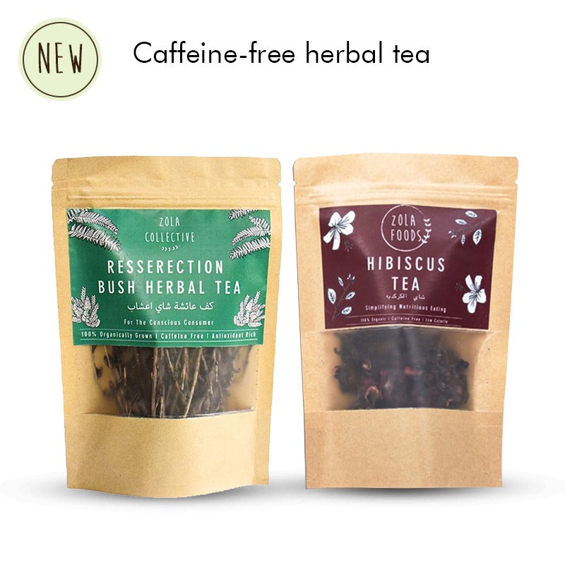Pack of 2 Teas - Hibiscus Tea and Resurrection Bush Herbal Tea