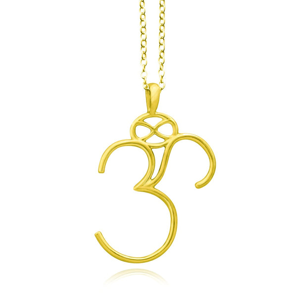 Om Silver or Gold Plated Necklace