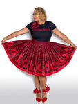 Red Stripe Skirt