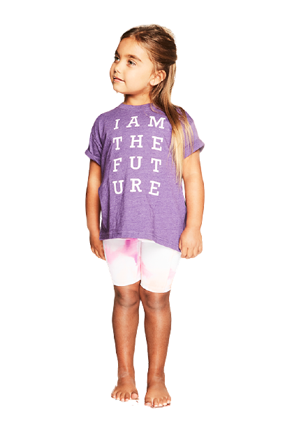 I Am The Future Purple Kids T-Shirt
