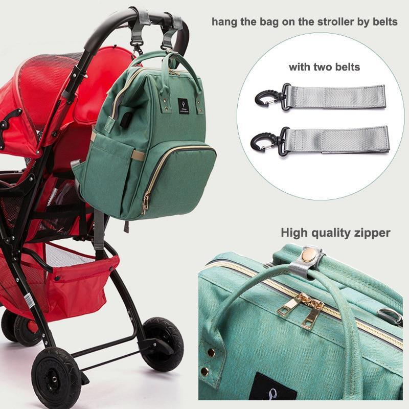 Mommy-N-Me® 8 in 1 Multipurpose Diaper/ Food/ Clothes Baby Bag for Parents - GoPositivo