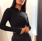 Women's Two Piece Turtleneck Full Sleeve Athleisure Suit - GoPositivo
