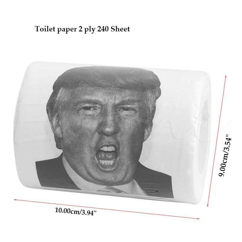 Donald Trump Toilet Paper Roll Pack of 2 - GoPositivo