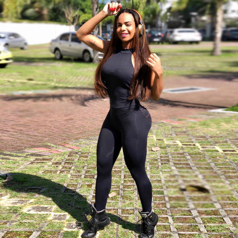 Women Backless Sexy Jumpsuit Yoga Female Workout Fitness Wear - GoPositivo