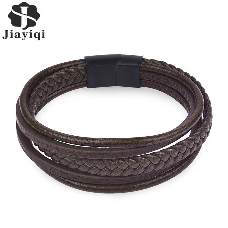 Genuine Leather Biker Bracelet A332 - GoPositivo