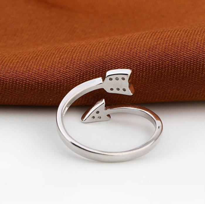 Twisted Arrow Ring - Pure 925 Sterling Silver - GoPositivo