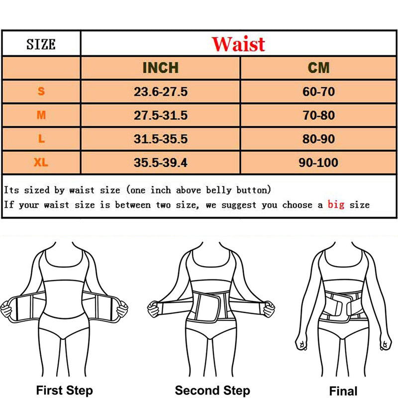 Slimming waist trainer / slimming belt for body sizes - GoPositivo