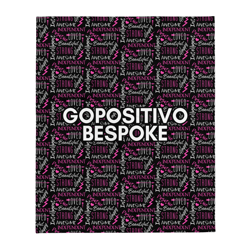GP Bespoke Empower Throw Blanket - GoPositivo