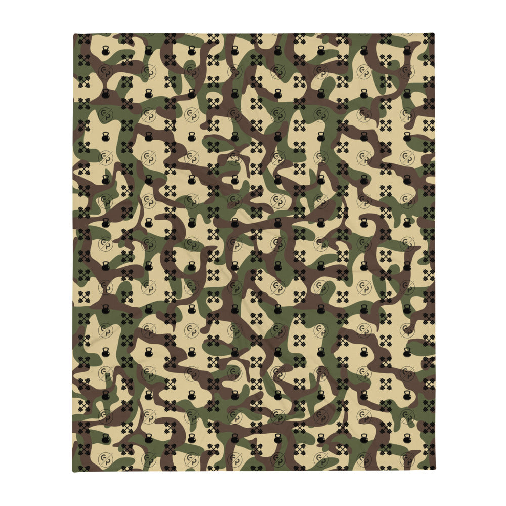 GP Bespoke Camo Throw Blanket - GoPositivo