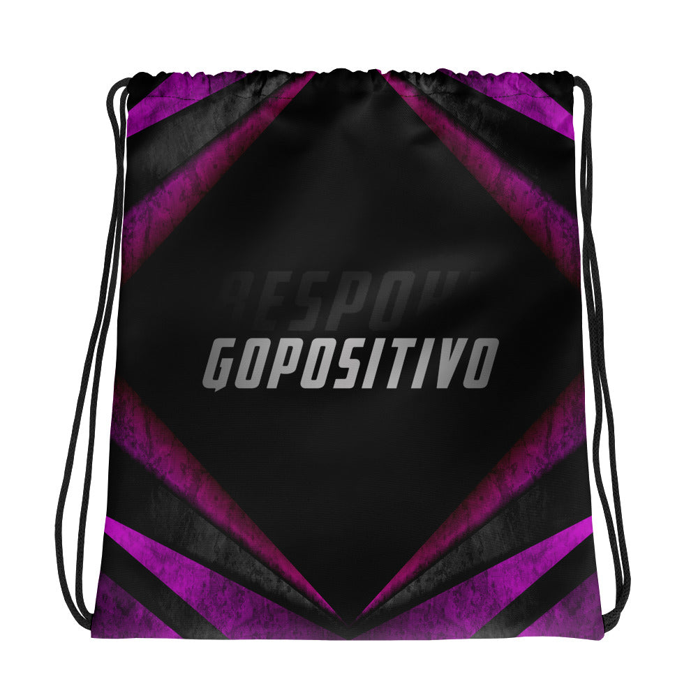 GP Bespoke Abstract Drawstring bag - GoPositivo