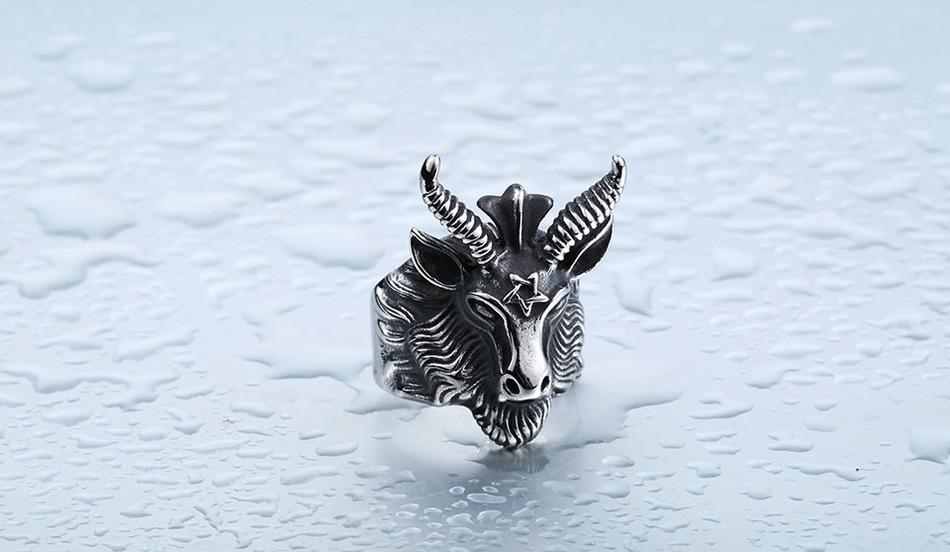 Vintage Punk Sheep Head Unisex Ring - GoPositivo