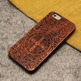 Premium Wood Carved I Phone Case - GoPositivo