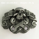 Gear Head Skull Belt Buckle for Ultimate Riding - GoPositivo